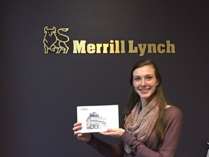 Merrill Lynch Recognizes THS student Layne Hubble